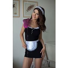 Платье горничной Jane с фартуком и кружевной повязкой на голову   Платье горничной Jane с фартуком и кружевной повязкой на голову.