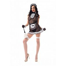 Костюм Сексуальной прислуги (S/M)  02907SM  Костюм состоит из:  головной убор  передник  платье  перчатки  чулки в сетку   ! Внимание, щетка приобретается отдельно