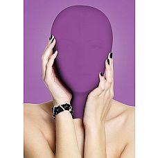 Закрытая фиолетовая маска на лицо Subjugation  Это удобная маска, полностью закрывающая лицо, предназначена для натягивания на голову целиком.