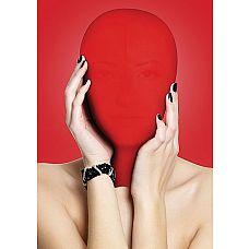 Закрытая красная маска на лицо Subjugation  Это удобная маска, полностью закрывающая лицо, предназначена для натягивания на голову целиком.