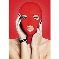 Красная маска на лицо с вырезами Subversion  Возьми под контроль своего раба с маской с отверстиями для глаз и губ.