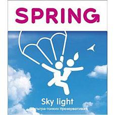 Ультратонкие презервативы SPRING SKY LIGHT - 3 шт.  Ультратонкие презервативы SPRING SKY LIGHT.