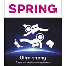 Ультра Прочные презервативы SPRING ULTRA STRONG - 3 шт.  Ультра Прочные презервативы SPRING ULTRA STRONG.