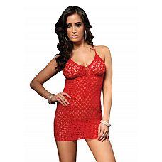 Платье-сетка со сложным плетением  Платье-сетка со сложным плетением.