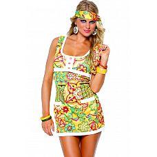 Костюм хиппи Far Out Hippie  Яркое платьице для девчонки Хиппи.