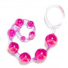 Анальные бусы Хвост Дракона  10 уменьшающихся к концу шариков - анальные бусы с кольцом для удобства использования. Длина цепочки 25 см.