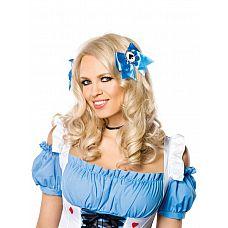 Заколка для волос со знаком пики  Заколка для волос голубого цвета с пиковой мастью. В комплекте 2 заколки.