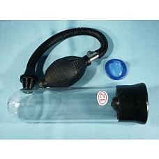 Вакуумная помпа для мужчин  Простейший вакуумный массажер-помпа для мужчин. Создает хорошую степень разряжения в колбе за счет удобного ручного механизма выкачивания воздуха. Длина колбы 19 см. диаметр 5 см. Диаметр уплотнительного кольца 2,5 см.
