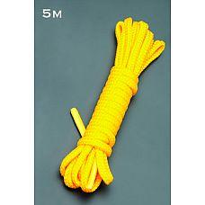 Веревка 5м. (желтый)  Веревка для связывания - подходит как для новичков для простого связывания рук и ног, так и для истинных ценителей рабства.