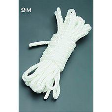 Веревка 9м. (белый)  Веревка для связывания - подходит как для новичков для простого связывания рук и ног, так и для истинных ценителей рабства.