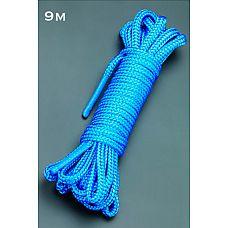 Веревка 9м. (голубой)  Веревка для связывания - подходит как для новичков для простого связывания рук и ног, так и для истинных ценителей рабства.