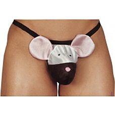 Мужские стринги Mouse с мышкой  Мужские стринги в виде мышки. Размер - универсальный.