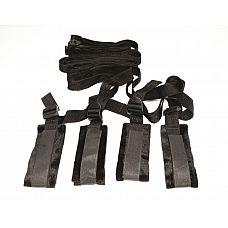 Набор ремней-фиксаторов Bed Bondage Restraint Kit  Превратите свою кровать в поле сексуальной битвы с помощью набора ремней фиксаторов.
