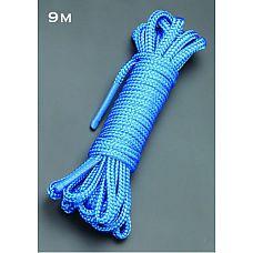 Голубая веревка для связывания - 9 м.  Веревка для связывания - подходит как для новичков для простого связывания рук и ног, так и для истинных ценителей рабства.