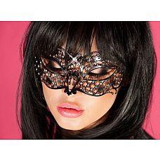 Шикарная кружевная маска  Витиеватая и фантазийная маска, словно сошедшая со страниц средневековых книг, станет отличным аксессуаром для ваших эротических игр.