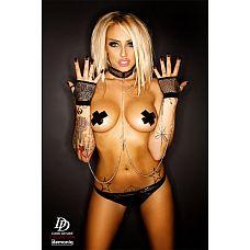 Набор для рабыни Anabelle: ошейник, перчатки и цепи  Набор для рабыни Anabelle: ошейник, перчатки и цепи.