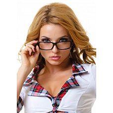 Карнавальные очки  Элегантные пластиковые очки без стекол помогут создать образ строгой учительницы или школьницы-отличницы и отлично дополнят любой образ,
