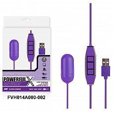 Фиолетовое виброяйцо с контроллером, работающее от USB   Виброяйцо, 10 режимов вибрации.