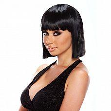 Прямое удлиненное каре Egyptian Fantasy  Прямое длинное каре черного цвета как ни что другое подойдет для воссоздания строгого восточного образа! Прямые концы волосы, прямая длинная челка.