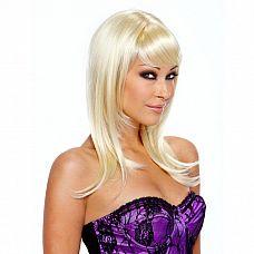 Парик с косой челкой Platinum Star  Красивый и элегантный парик цвета платиновый блонд с оригинальной стрижкой.