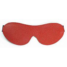 Красная кожаная маска на глаза  Красная кожаная маска на глаза. Крепится на резинке.