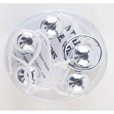 Серебристые анальные шарики  Анальные шарики, соединенные между собой удобной веревкой