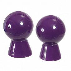 Вакуумные стимуляторы для сосков  Вакуумный стимулятор для сосков фиолетового цвета.