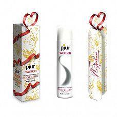Концентрированный лубрикант на силиконовой основе pjur WOMAN в подарочной упаковке - 100 мл.  Концентрированный лубрикант на силиконовой основе, специально разработан для нежной и чувствительной кожи женщин.
