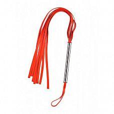 Красная плеть с металлической ручкой   Красная плеть с металлической ручкой.