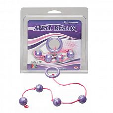 Фиолетовые анальные шарики GOOD VIBES ANAL BEADS SMALL  Фиолетовые анальные шарики GOOD VIBES ANAL BEADS SMALL.