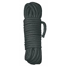 Черная веревка для бандажа - 3 м.  Красная высококачественная веревка на 3 метра для любителей крепких уз...