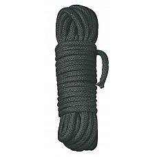 Черная веревка для бандажа - 10 м.  Черная веревка для бандажа для любителей крепких уз...