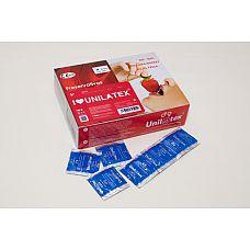 Презервативы Unilatex Strawberry Red 144 шт 3001Un  Упаковка 144 шт.