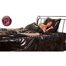 Черный виниловый пододеяльник 135х200 см.  Черный виниловый пододеяльник.
