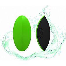 Зелёный вибромассажер Eros для стимуляции эрогенных зон  Одно изделие  предусматривает два использования и несколько функций.