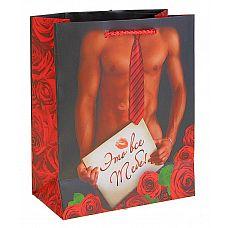 Подарочный пакет  Это всё тебе!   Ламинированные бумажные пакеты   лидеры по популярности среди подарочной упаковки.