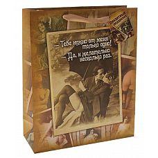 Большой бумажный пакет  Пикантный подарочек   Ламинированные бумажные пакеты   лидеры по популярности среди подарочной упаковки.