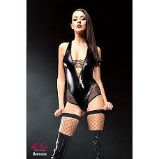 Эффектное боди Claudia Premium со шнуровкой на груди, сетчатыми вставками и чулками в комплекте  Эффектное боди Claudia Premium со шнуровкой на груди, сетчатыми вставками и чулками в комплекте.