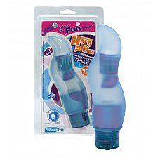 Извилистый голубой вибратор для стимуляции точки G - 16,5 см.  Извилистый голубой вибратор для стимуляции точки G.
