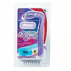 Фиолетовый вибростимулятор G-точки с силиконовой насадкой   Фиолетовый вибростимулятор G-точки с силиконовой насадкой.