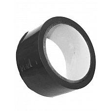 Липкая лента S M Bondage Tape чёрного цвета - 18 м.  Что вы используете, когда вам нужно зафиксировать партнера на кровати или стуле? Попробуйте скотч.