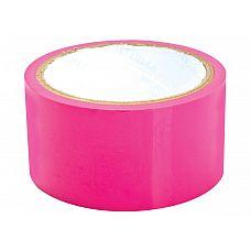 Розовая липкая лента для фиксации Sex Please! Dominate Me Self-Adhesive Bondage Tape  Великолепная липкая лента для фиксации, которая не прилипает к волосам! Теперь доминирование будет отражать еще и заботу о своем нижнем!  Уникальный скотч без клея легко и безболезненно снимается.