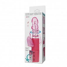 Розовый хай-тек вибратор Cute Baby Pink - 24 см.  Розовый хай-тек вибратор Cute Baby Pink. Мультискоростные вибрация и ротация.