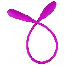 Фиолетовый двусторонний гибкий вибратор Pretty Love Snaky vibe  Перезаряжаемый вибратор имеет множество преимуществ, которые раз и навсегда покорят свою обладательницу и ее партнера.