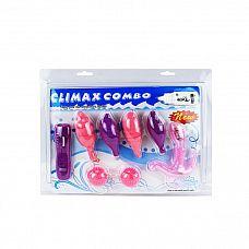 Вибронабор Climax Combo: вагинальные шарики, 5 стимуляторов и пульт-контроллер  Вибронабор Climax Combo: вагинальные шарики, 5 стимуляторов и пульт-контроллер.