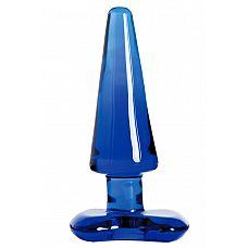 Синяя стеклянная анальная втулка  Синяя стеклянная анальная втулка.