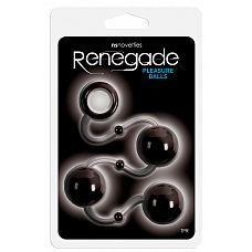 Чёрные анальные шарики Renegade Pleasure Balls  Анальные шарики Renegade Pleasure Balls представляют собой идеальный аксессуар для авантюрной анальной игры.