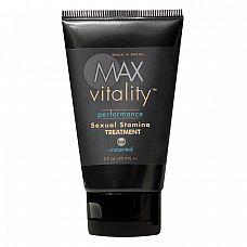 Крем для усиления потенции Max Vitality на основе травяной виагры  Крем для повышения сексуальной выносливости Max Vitality на основе травяной виагры.