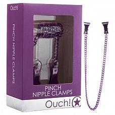 Зажимы на соски с цепочкой Ouch! Purple SH-OU077PUR