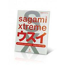 Ультратонкий презерватив Sagami Xtreme SUPERTHIN - 1 шт.  Больше никогда секс в презервативе не притупит приятные ощущения.
